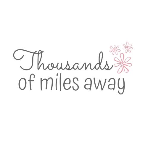Thousands of miles away logo